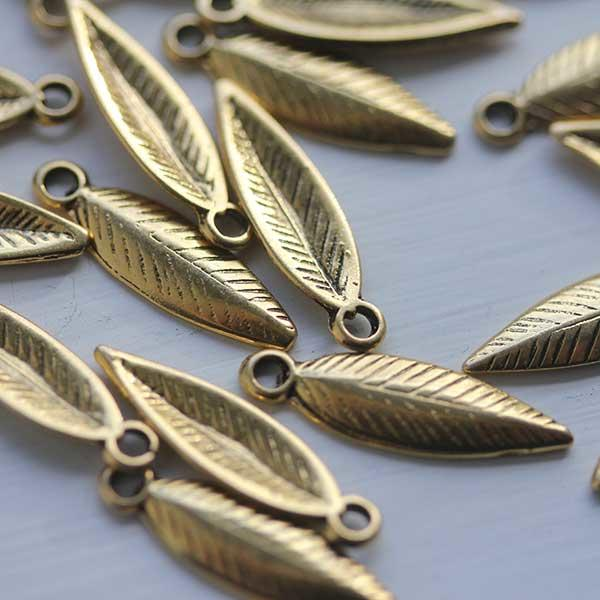 Gold Long Metal Leaves