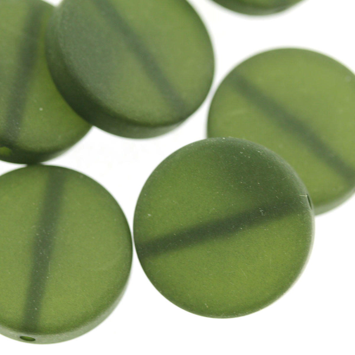 Sage Green Polaris Coin Bead