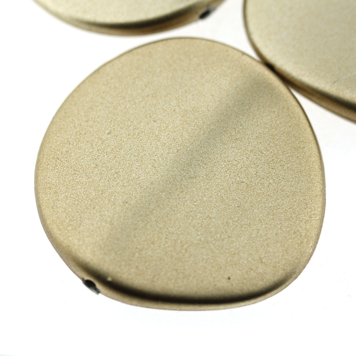 Gold big Round Acrylic Plane Bead