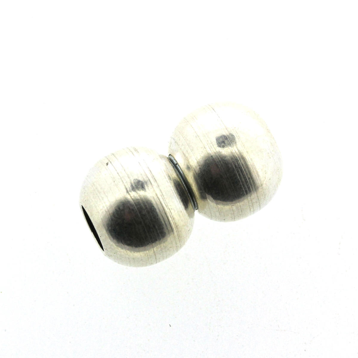 Silver Round Magnetic Ball Clasp