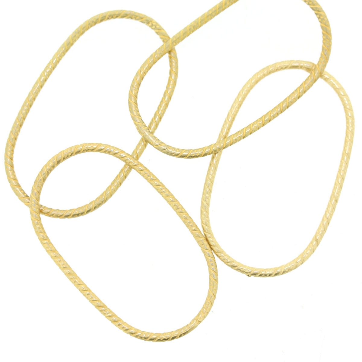 Gold Patterned Oval Loop Connector