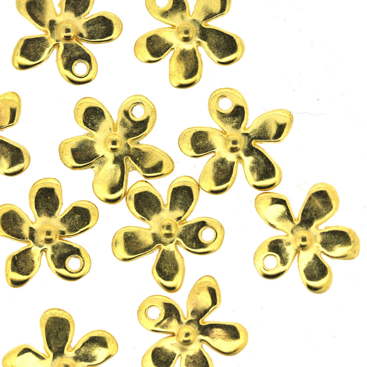 Gold Tiny Flower Charm