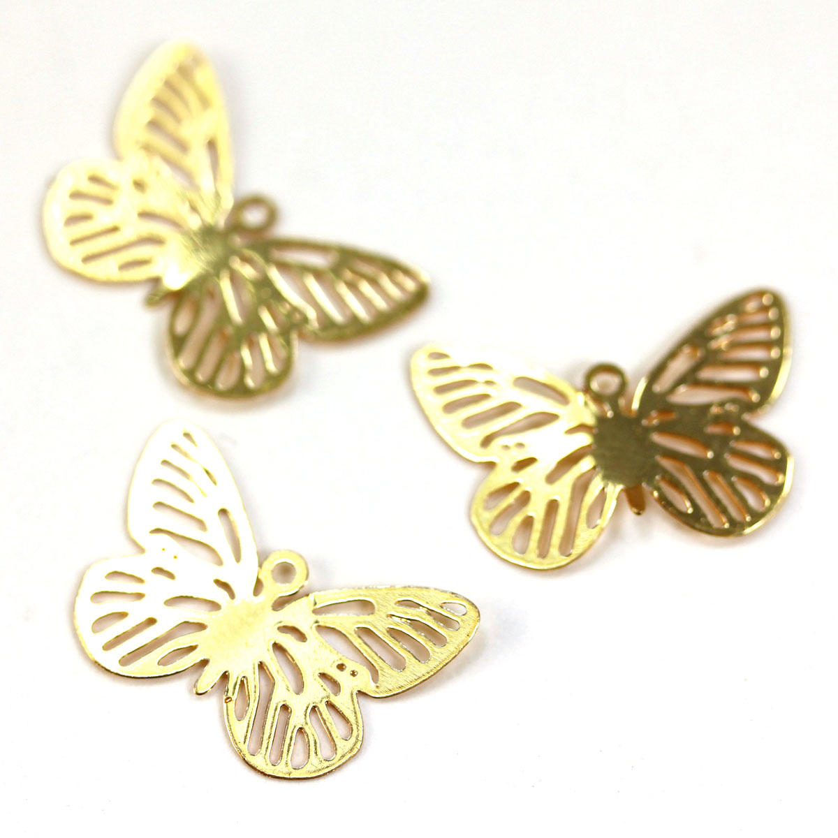 Gold Filigree Butterfly Lightweight Charm