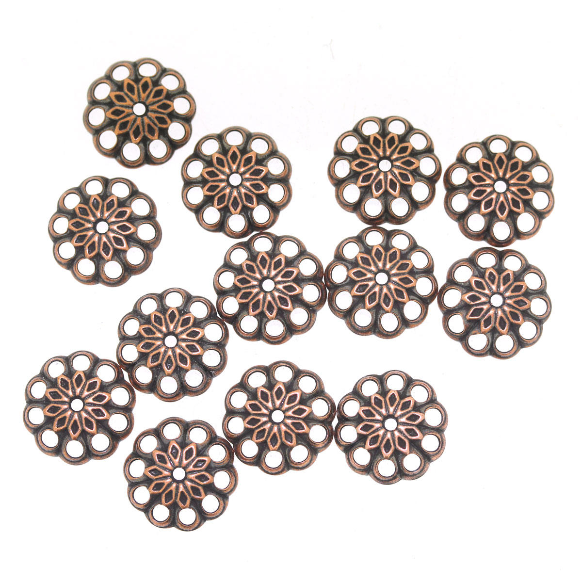 Antique Copper 10mm Bead Cap