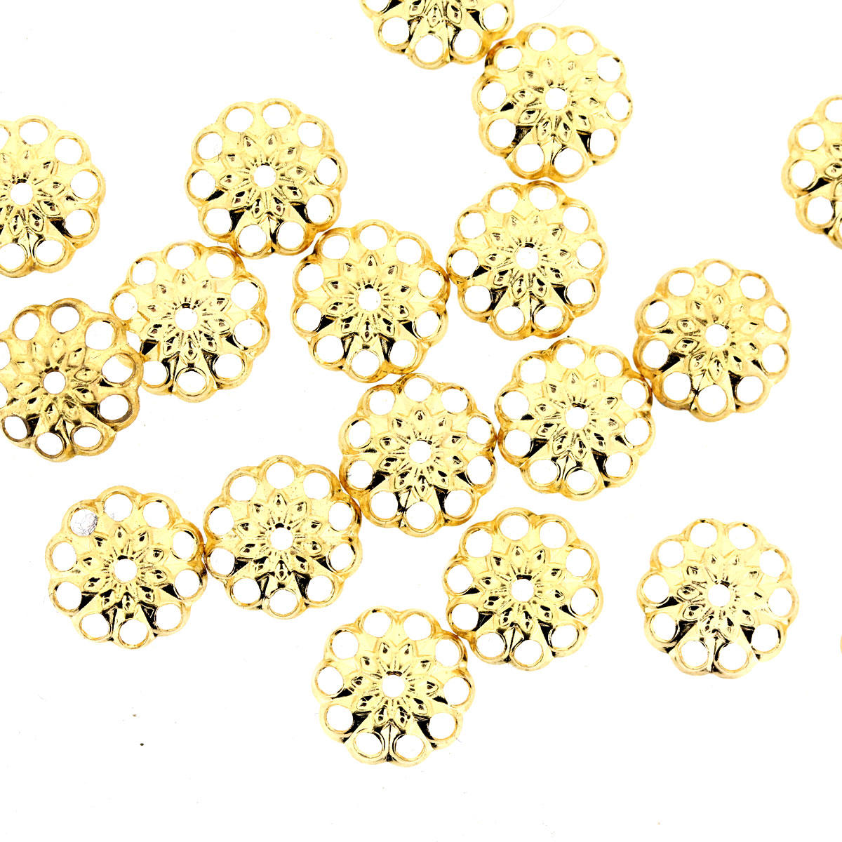 Gold 8mm Bead Cap