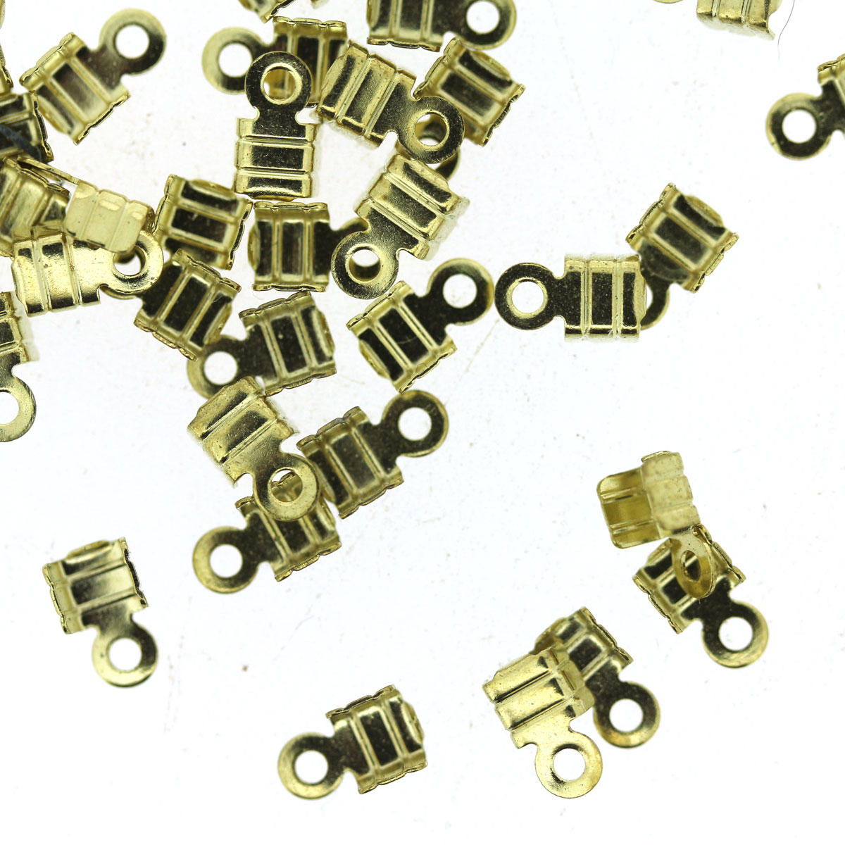 Light Gold Small Folding Crimp