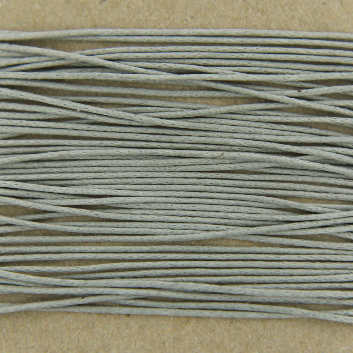 Grey Thin Cotton Bead Cord 0.7mm
