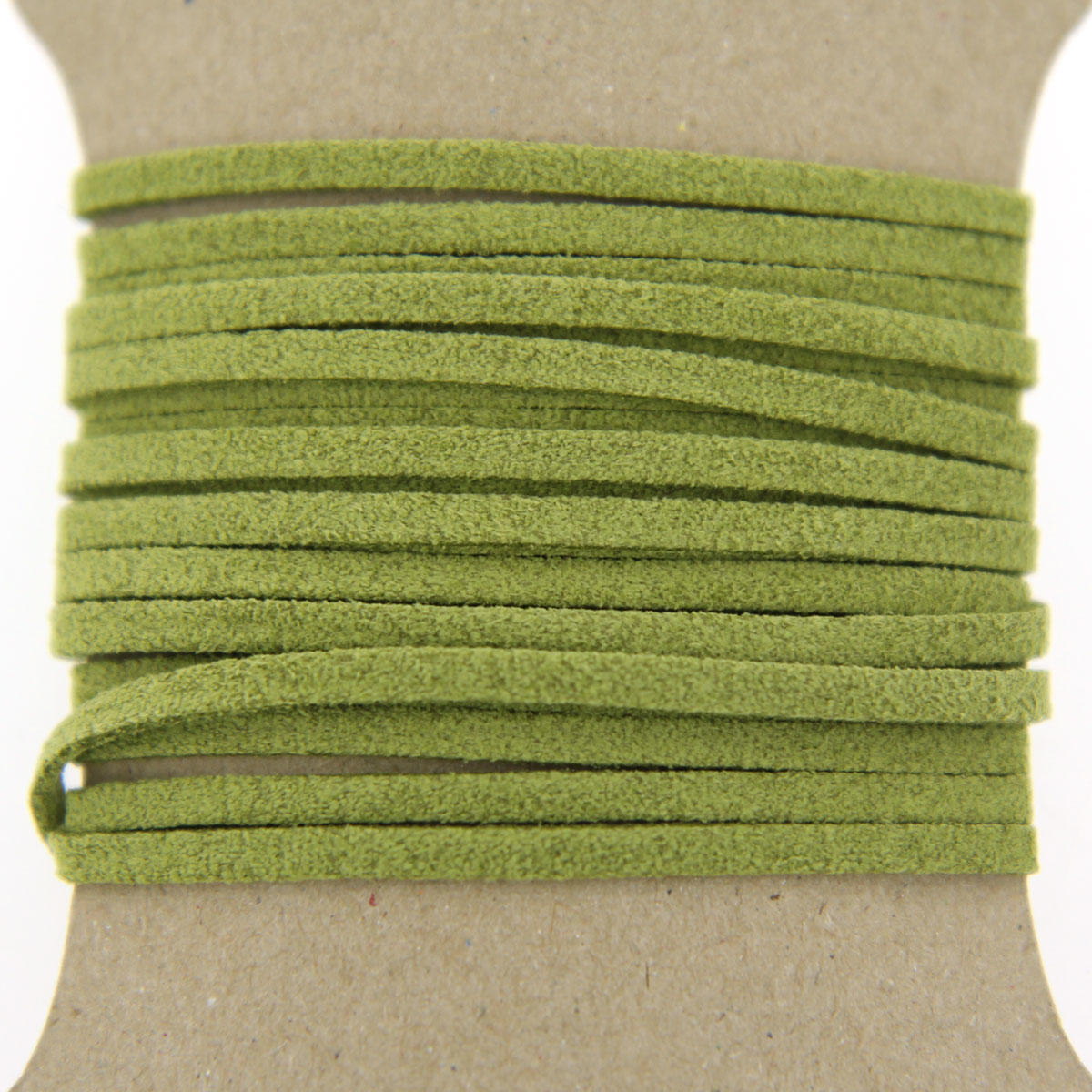 Olive Faux Suede Jewellery Cord