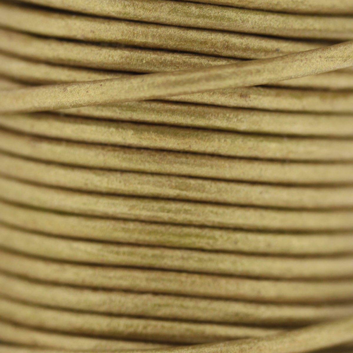 Gold Metallic 2mm Leather Cord