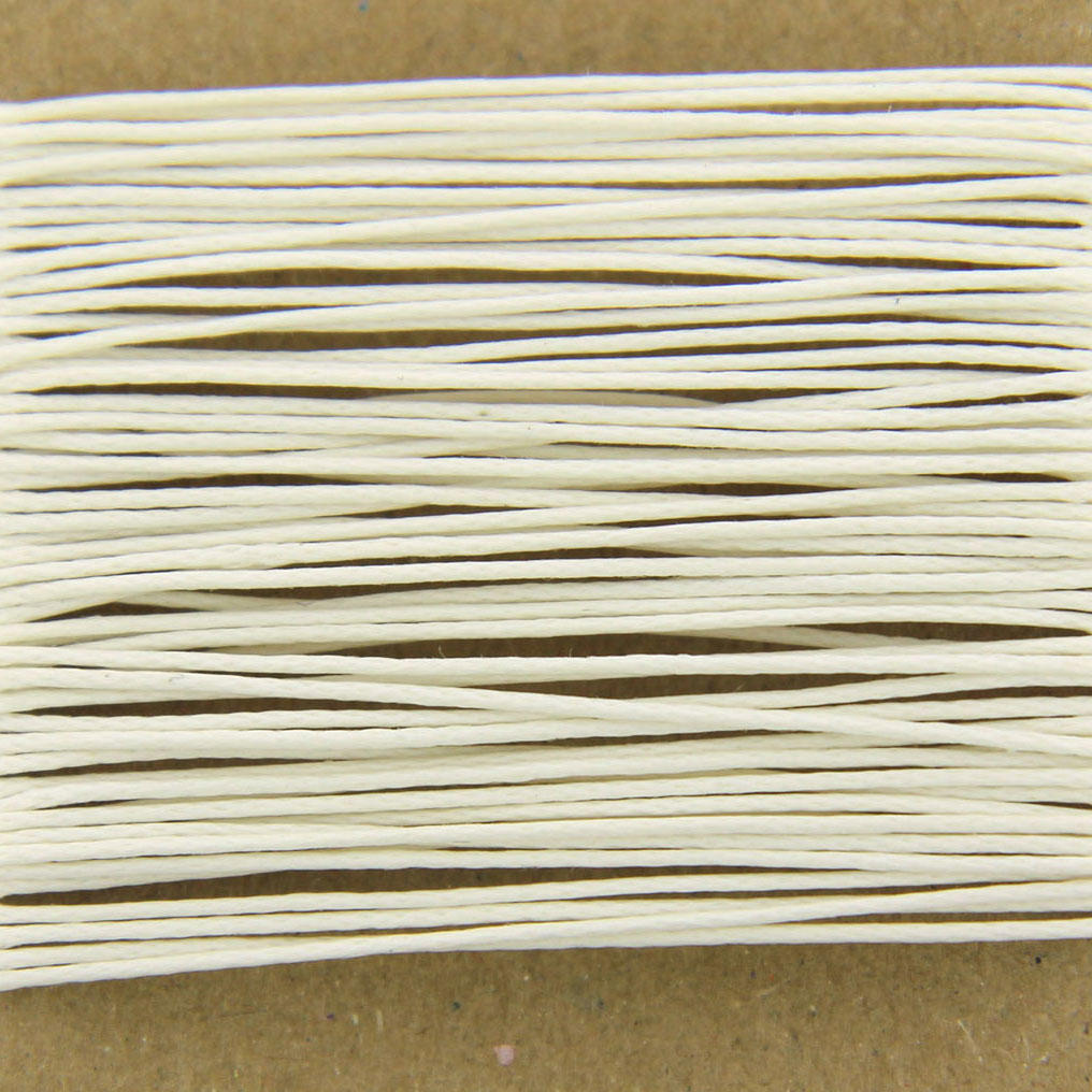 White Thin Cotton Bead Cord 0.7mm