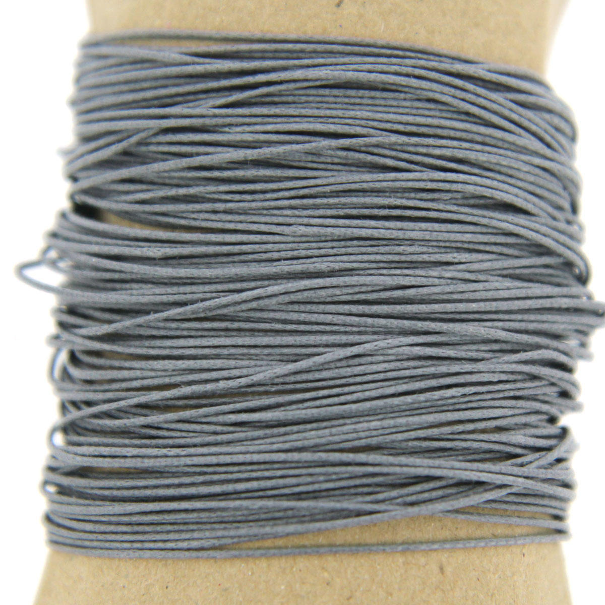 Charcoal Thin 0.7mm Cotton Bead Cord