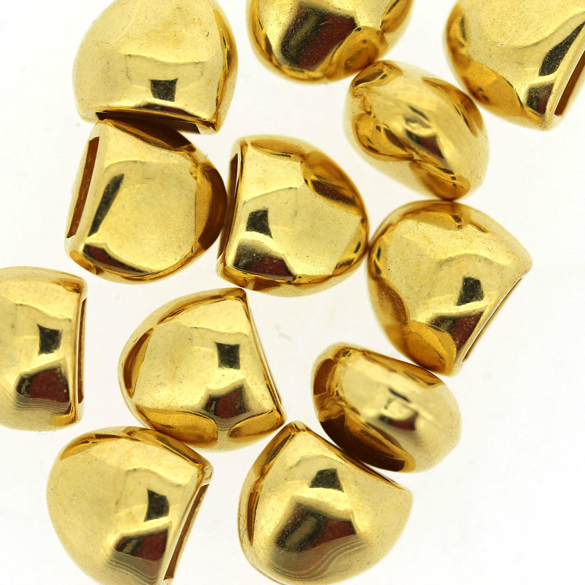 Gold Irregular Half Round End Cap