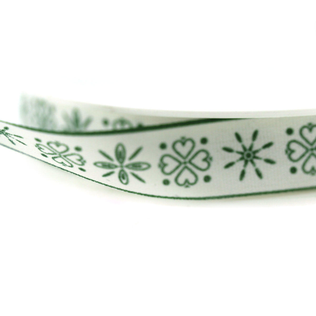 Green Folk Christmas Ribbon