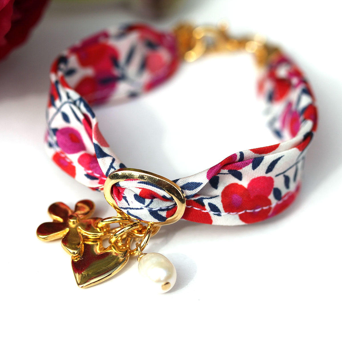 Liberty Wiltshire Bracelet with Gold Charms