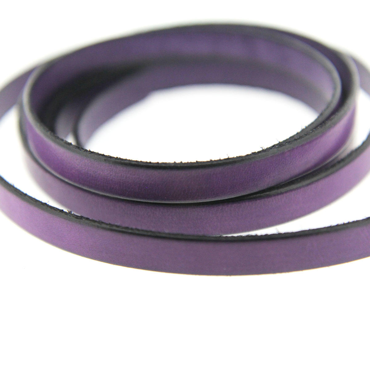 Purple 10mm Flat Leather