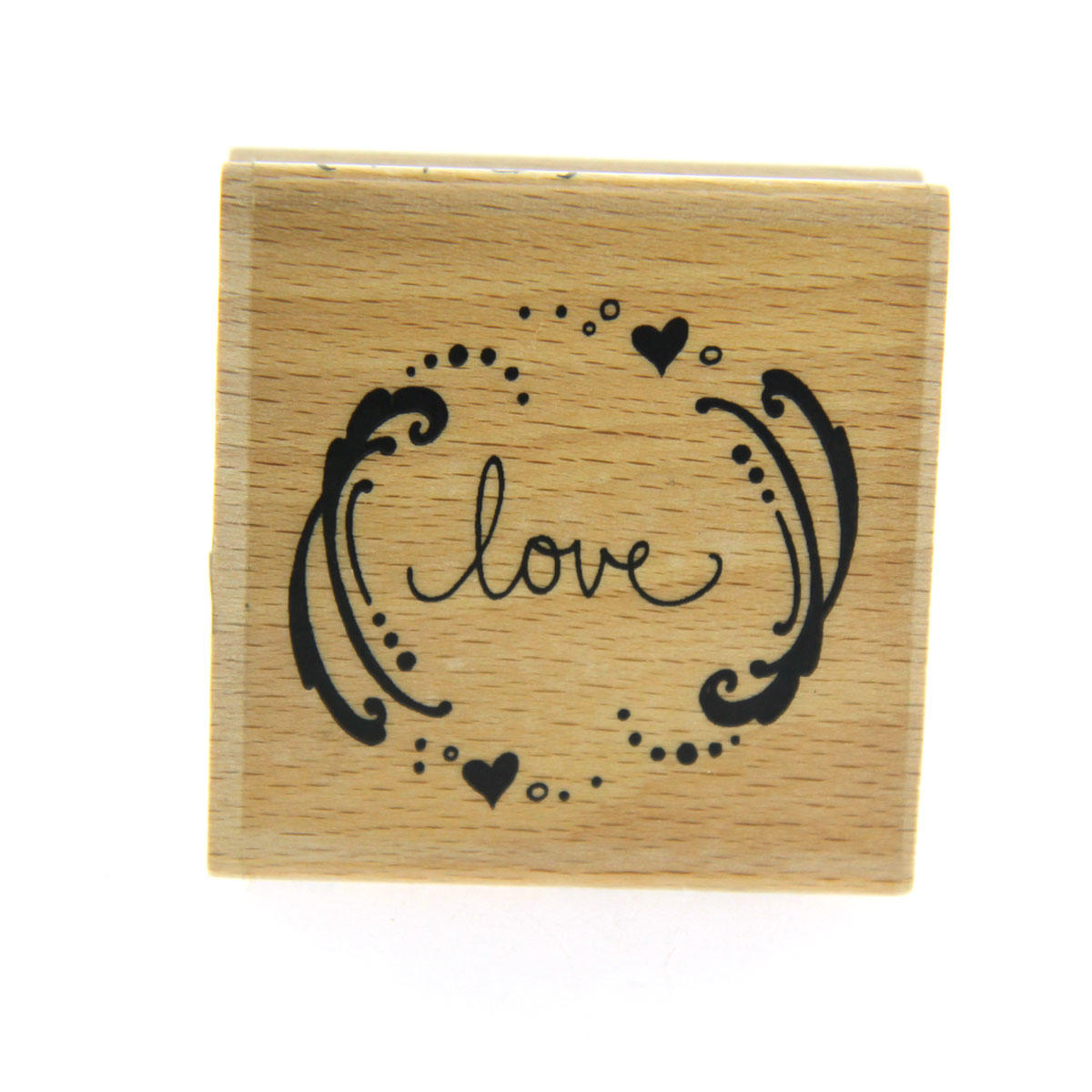 Love Brackets Rubber Stamp