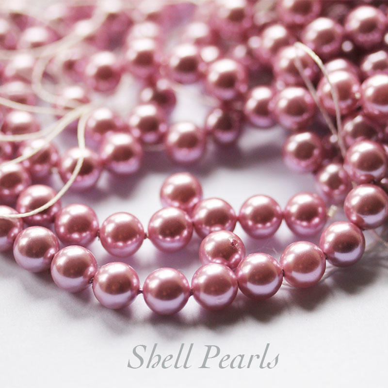 Pink Shell 8mm Pearl Beads