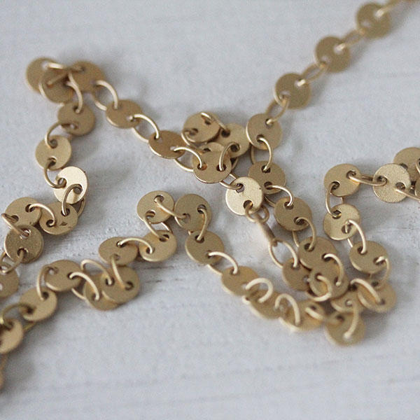 Soft Gold Chain of small coins