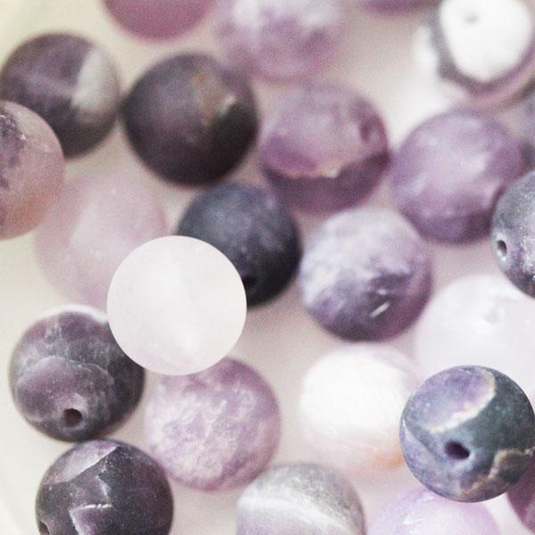 Amethyst Frosted Beads