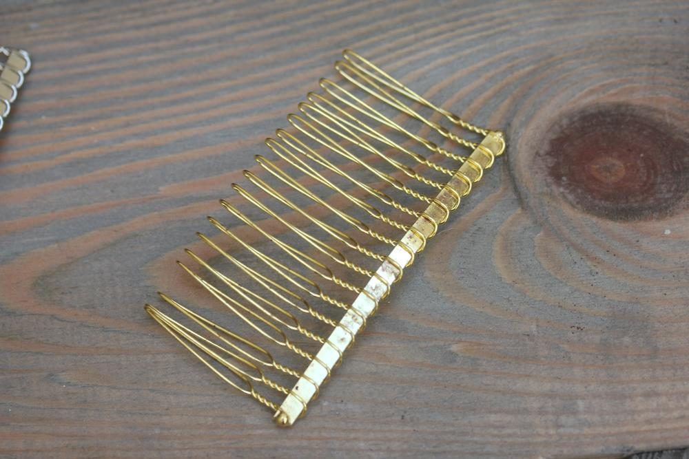 Gold Hair Comb Form