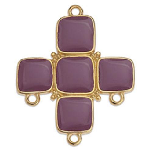 Purple Enamelled Cross