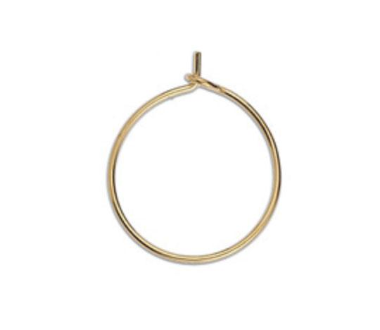 Thin gold Earring Hoop