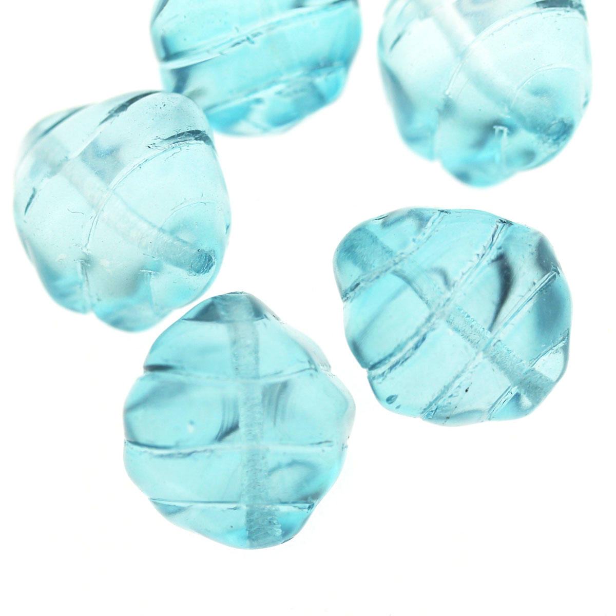 Ice Blue Honeydip Glass Bead