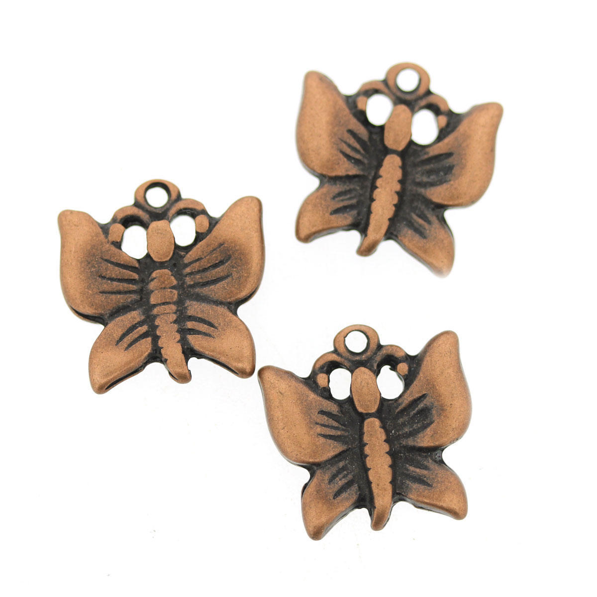 Antique Copper Butterfly Charm