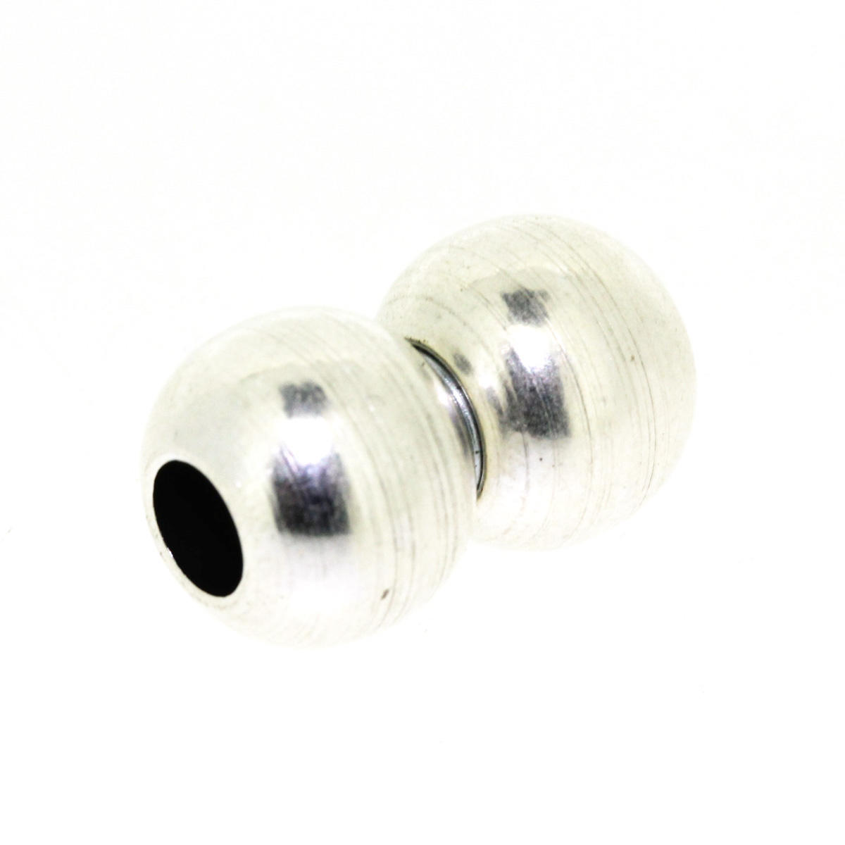 Silver Round Magnetic Ball Clasp 2