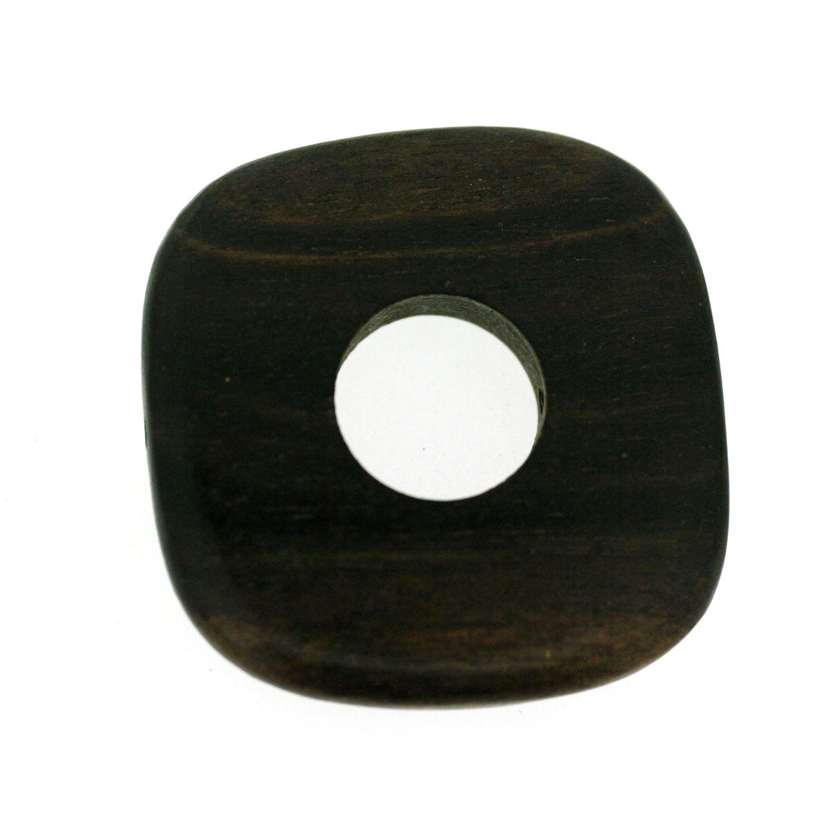 Tiger Ebony Top Drilled Open Square Bead