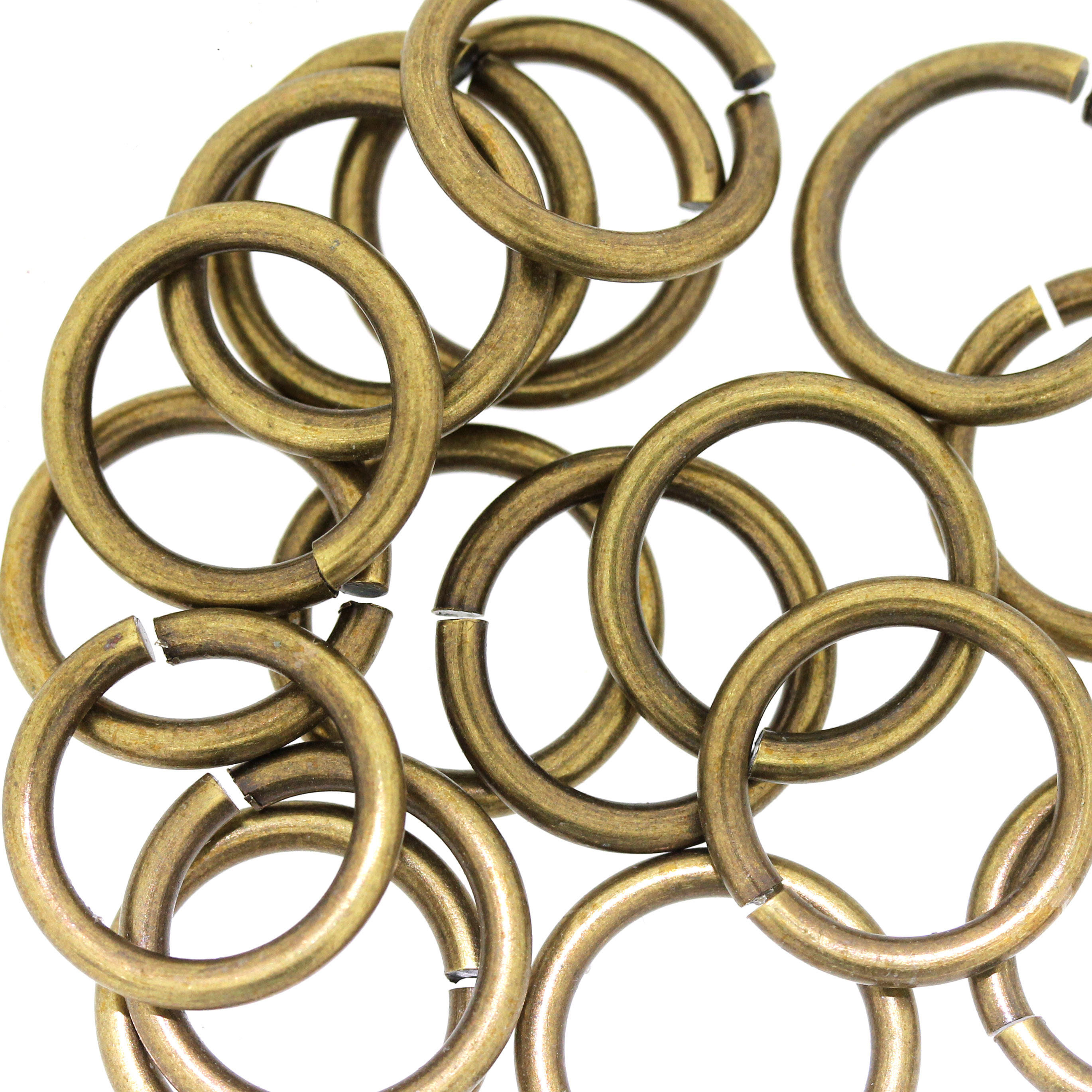 Antique Gold 14mm Thick Jump-Ring