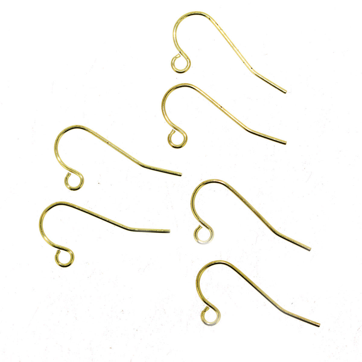 Light Gold Plain Earring Hooks