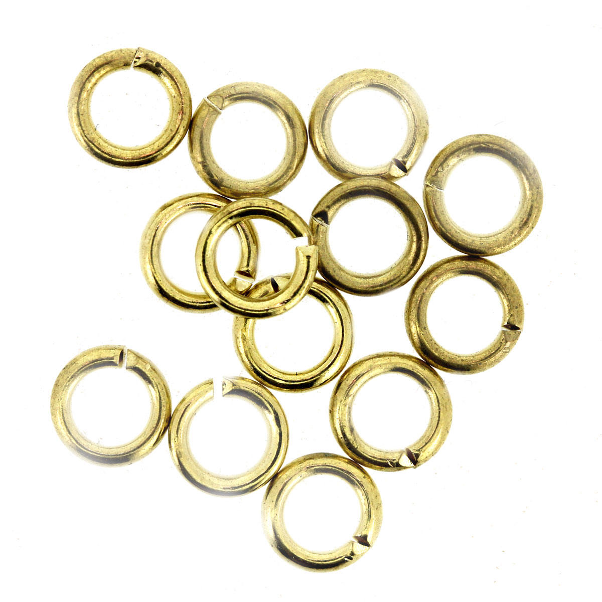 Light Gold Small Thick Jump Ring