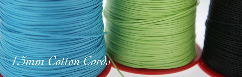 1.5mm Cotton Cords at Bijoux Beads