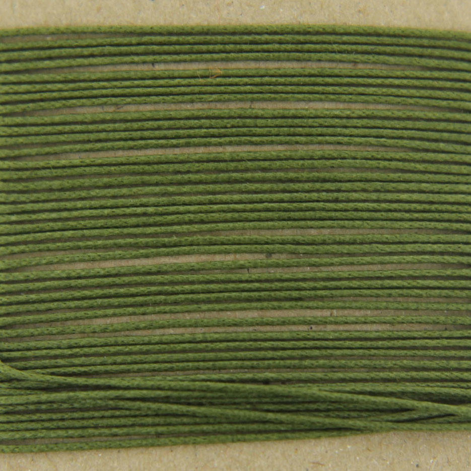 Olive 0.7mm Thin Cotton Bead Cord