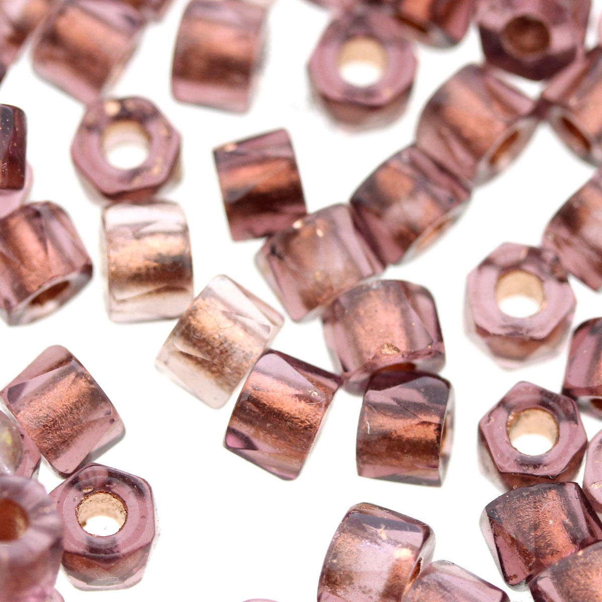Copper Nut Glass Bead