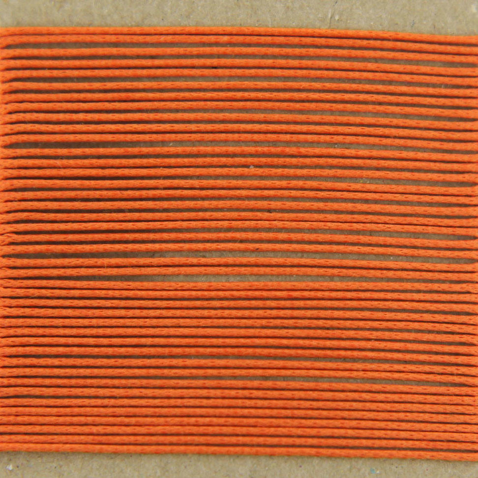 Tangerine Thin Cotton Bead Cord 0.7mm