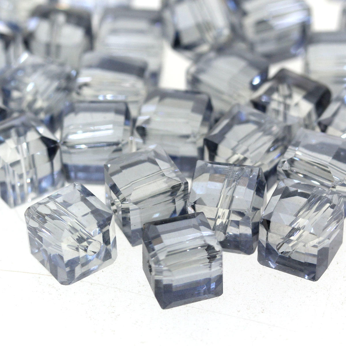 Airforce 7mm Faceted Glass Cube Bead