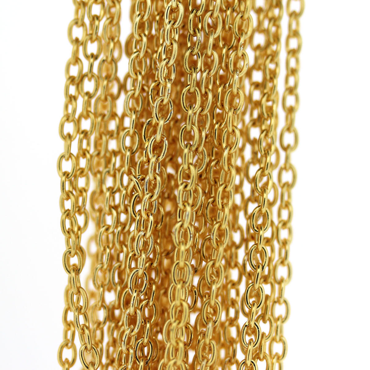 Gold Cable Oval Chain