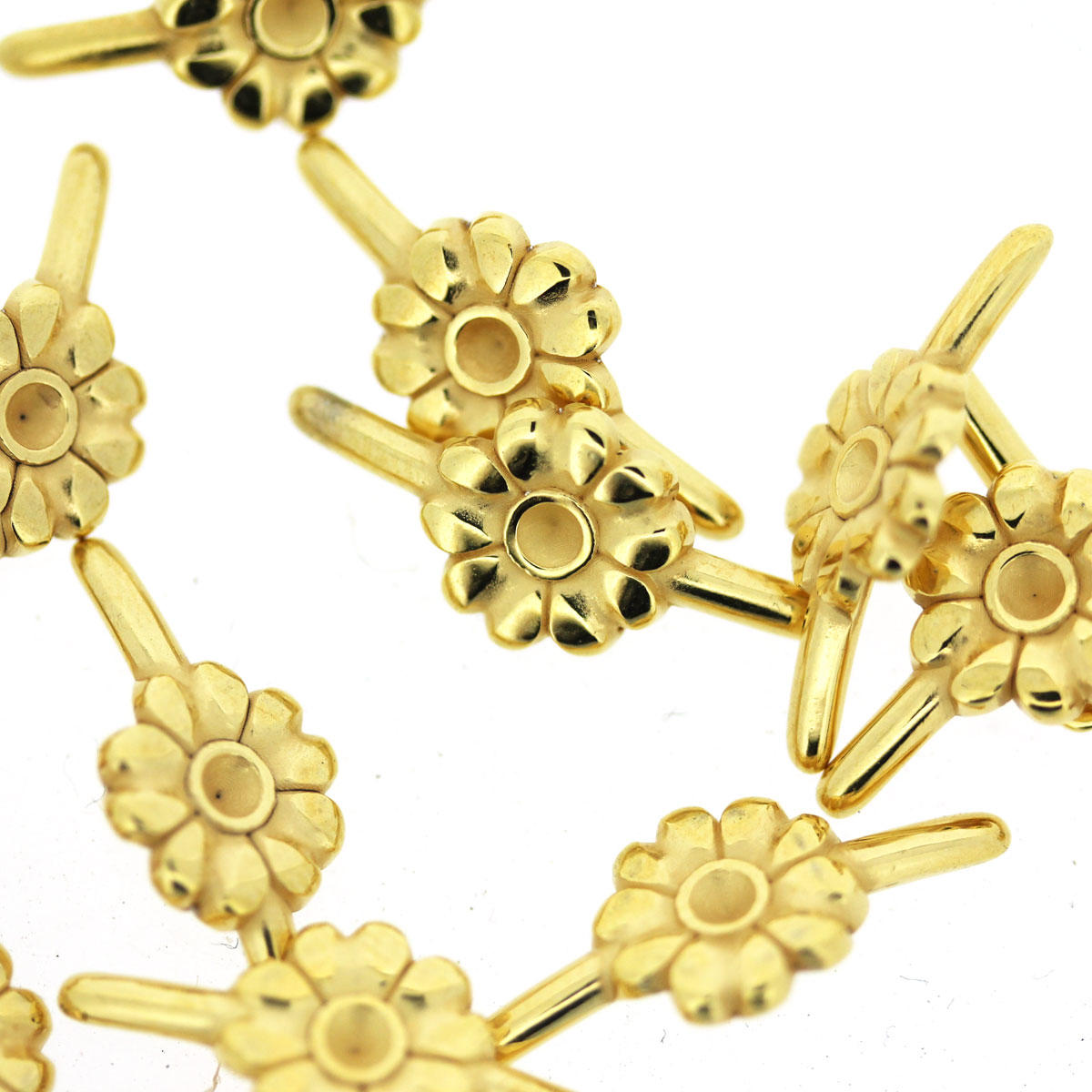 Gold Daisy Connector for fun PVC Tubing