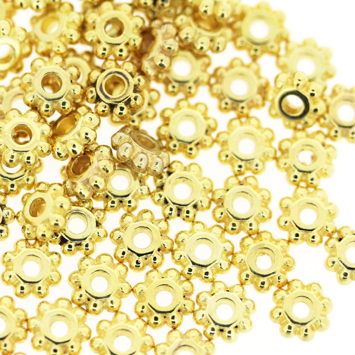 Gold Daisy Washer Bead