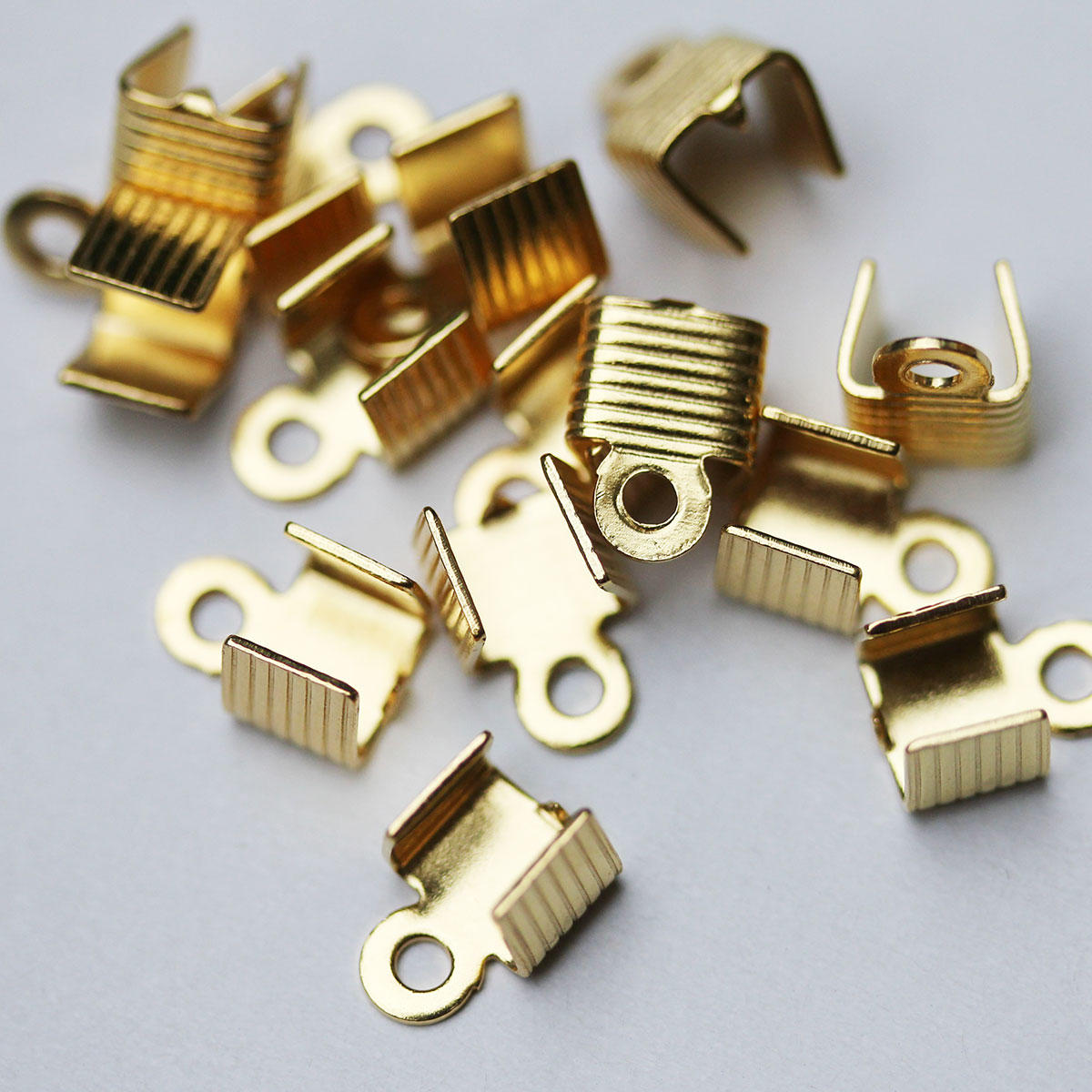 Gold Strong Square Folding Crimp