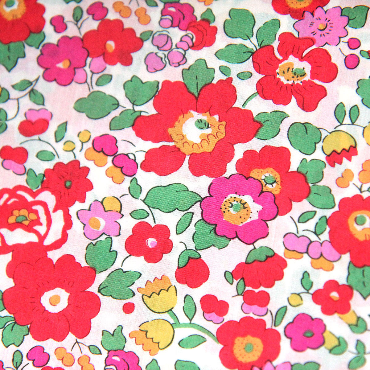 Liberty Betsy Red Tana Lawn Fabric
