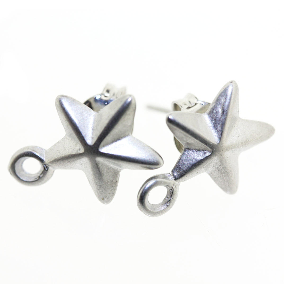 Silver Star Earring Fitting