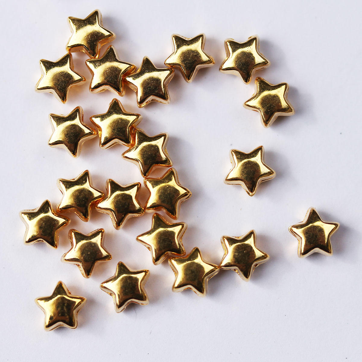 Gold Star Metal Beads