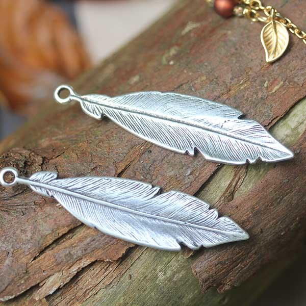 Spanish Silver metal feathers