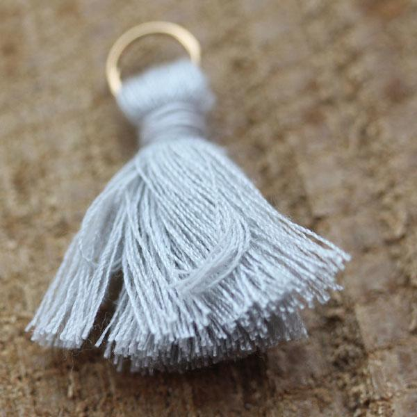 Grey Cotton Tassels