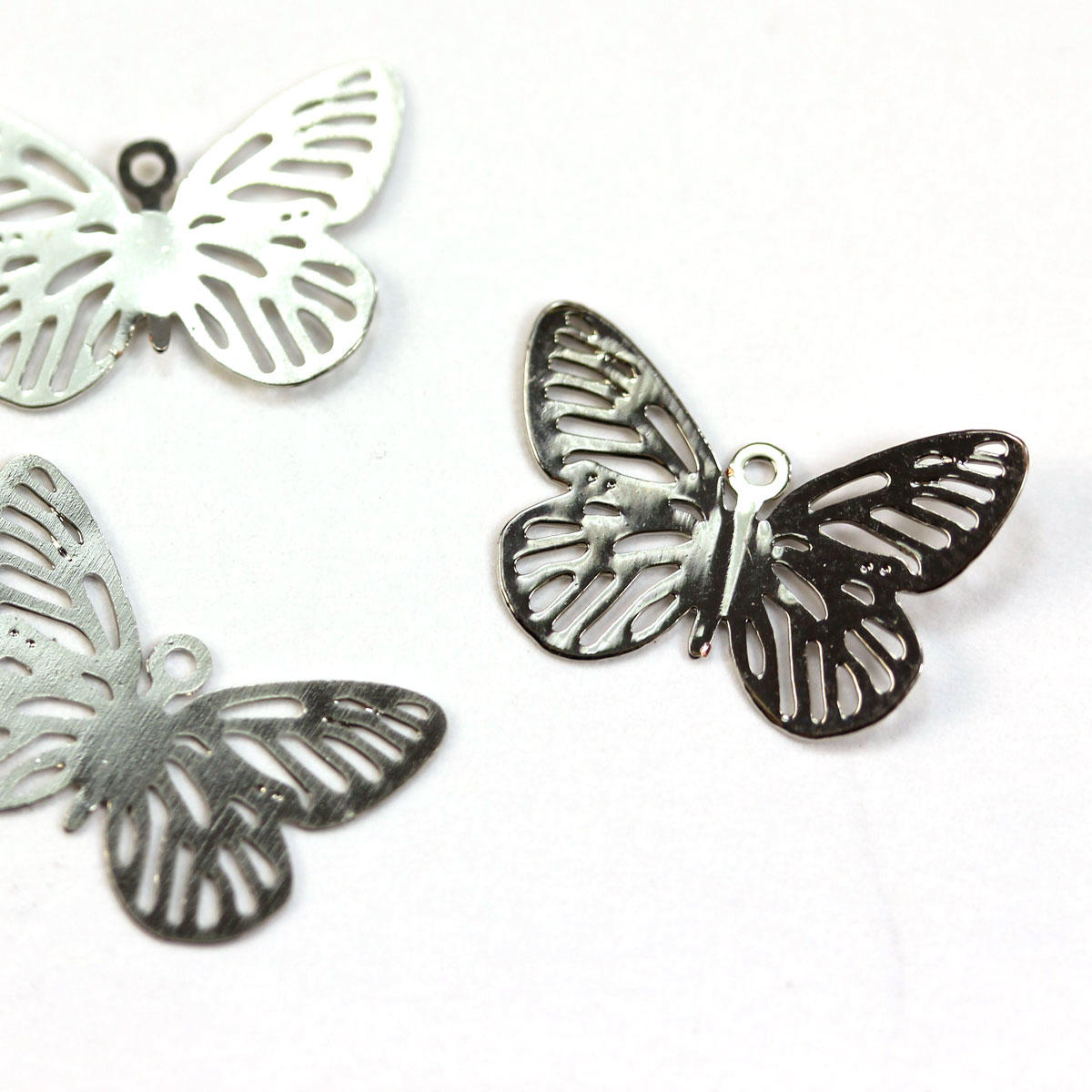 Silver Filigree Lightweight Butterfly Charm