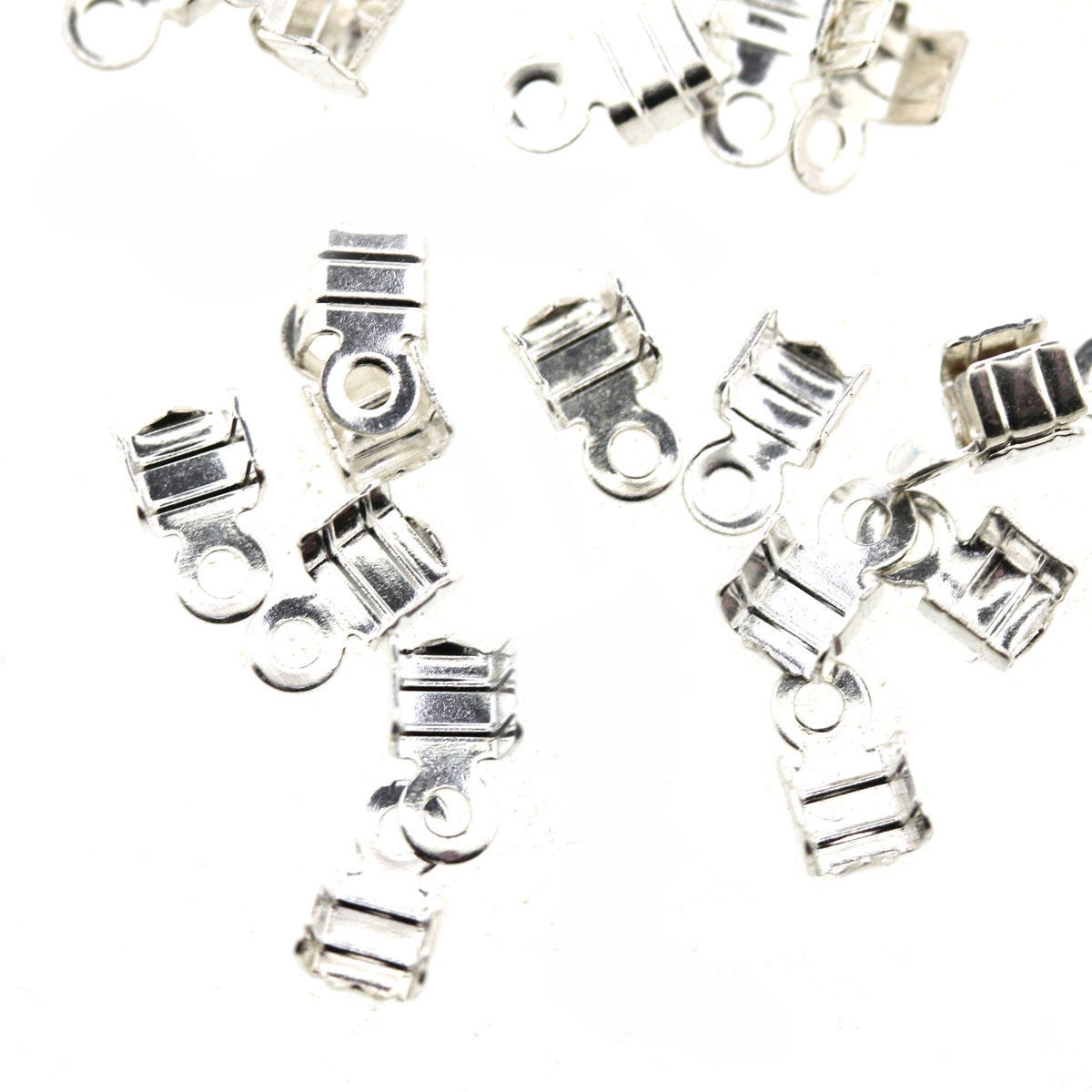 Silver Small Folding Crimp Finding