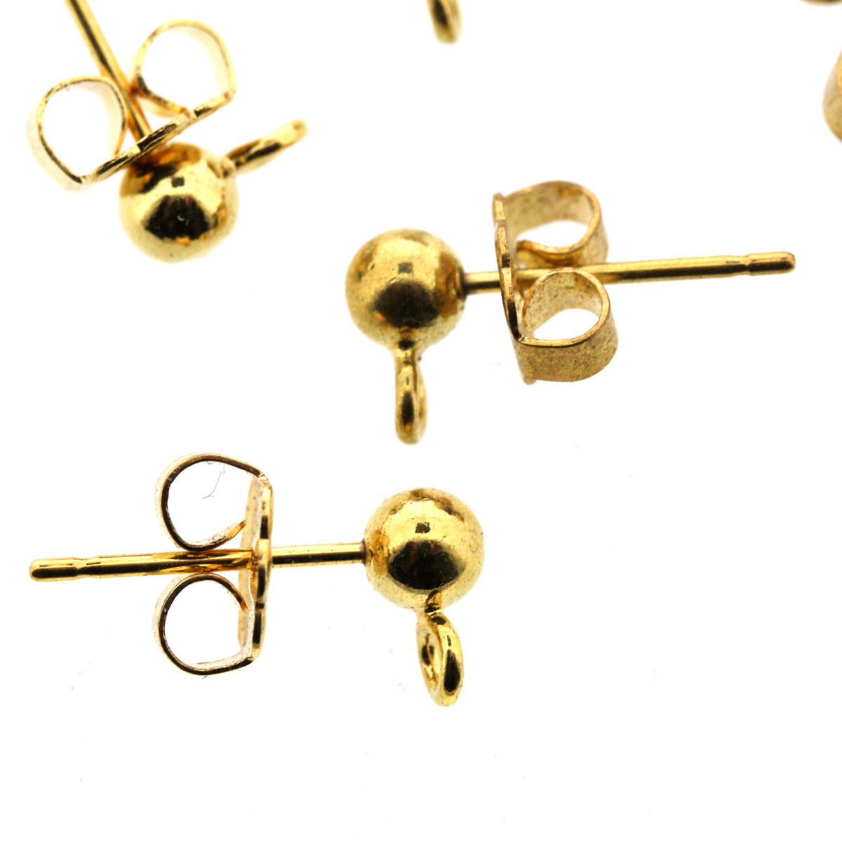 Gold Earring Fittings